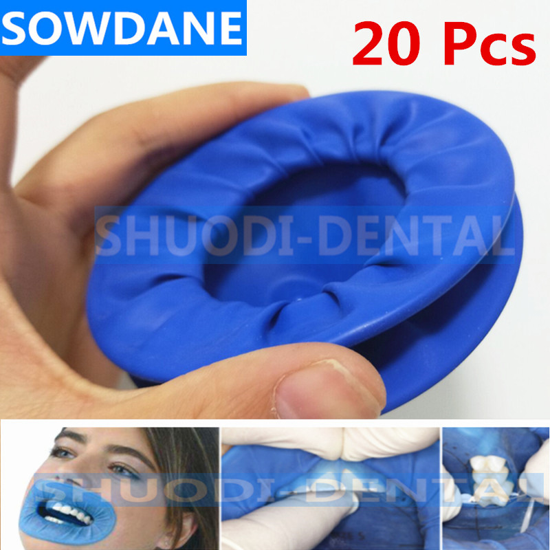 20Pcs Dental Disposable Rubber Sterile Mouth Opener Oral Cheek Expander Retractor Rubber Dam Retractor Mouth Opener Oral Hygiene