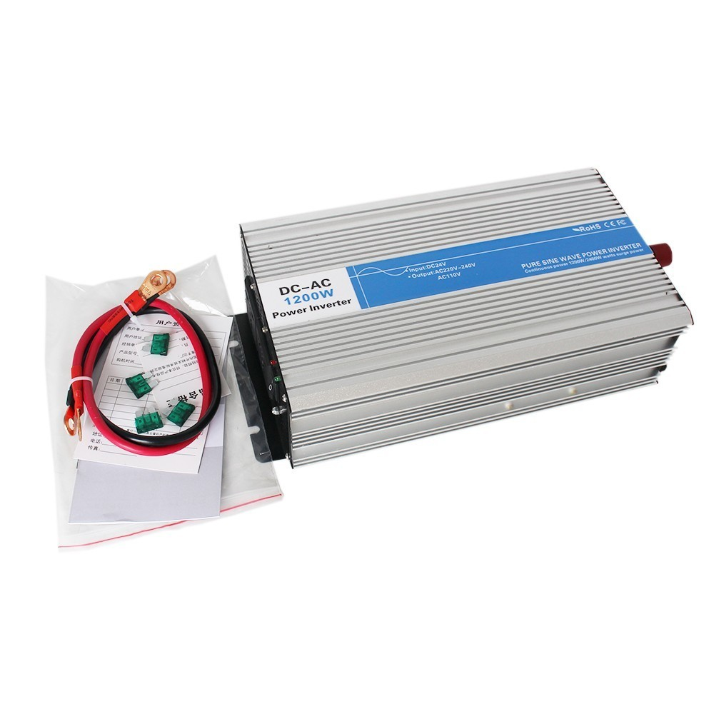 1200 W inversor de onda sinusoidal pura DC 12 V/24 V/48 V a AC 110 V/ 220 V circuitos tronic del inversor de la energía red barato 12 24 48 V LED