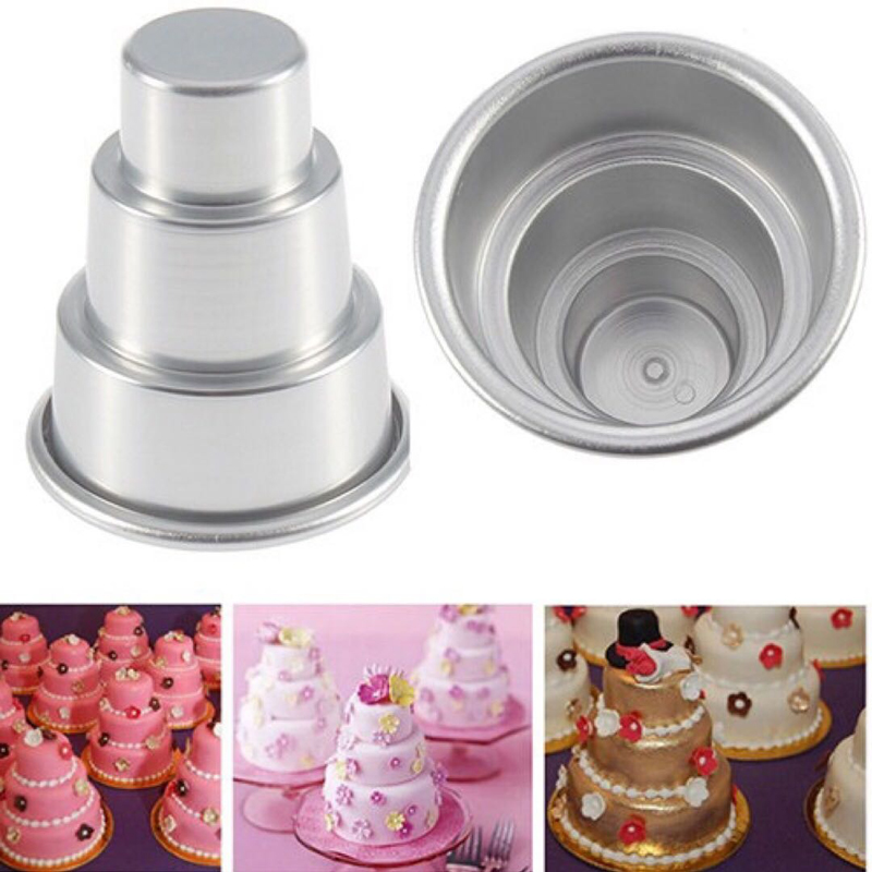 2015 special mini 3 tier cake pan tins cupcake pudding pizza mould cake trays party home. Black Bedroom Furniture Sets. Home Design Ideas