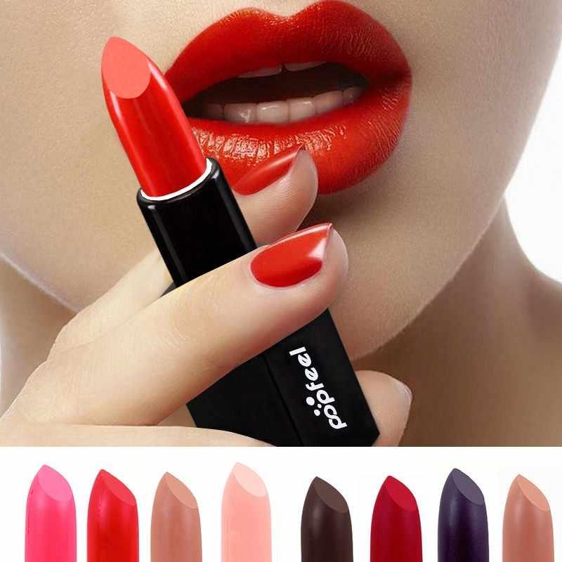 מט שפתון עט שפות קוסמטיקה מאט גוון שפתון נשים איפור עירום מקל שפתיים יופי עמיד למים איפור Mate Batom 1 חתיכה