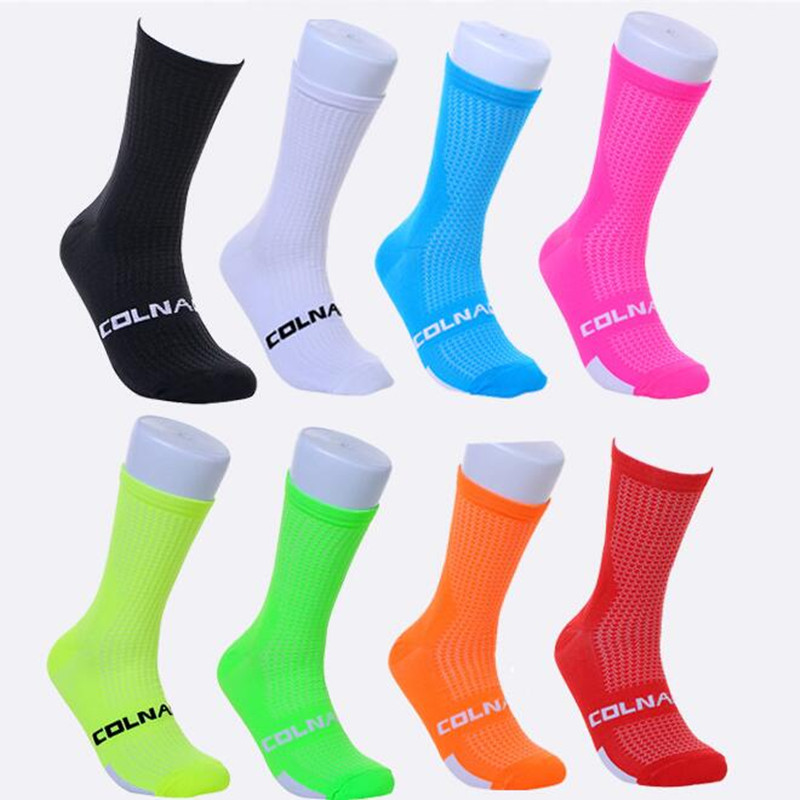 2018 Colnago High Quality Professional Brand Sport Socks Breathable Road Bicycle Socks Outdoor Sports Racing Cycling Sock 3c