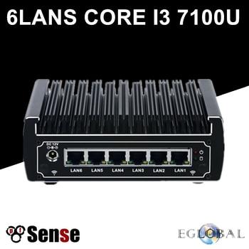 6 Intel LAN Fanless Pfsense Mini PC Intel Core i5 7200U i3 7100U DDR4 Ram AES-NI Linux Firewall Pfsense Router Network Server lukmall iphone case