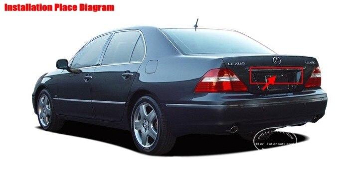 Liislee для Lexus LS430 LS430(UCF30) 2001~ 2006-заднего вида Камера/парковка Камера/NTST PAL/номерные знаки для мотоциклов лампа OEM