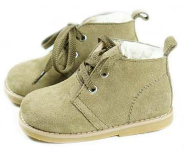 New Suede Leather Children Boots Lambs Wool Thicken kids and baby Snow Boots Winter Girls Boots fall and winter girls boots knitted wool boots elastic cotton cloth boots