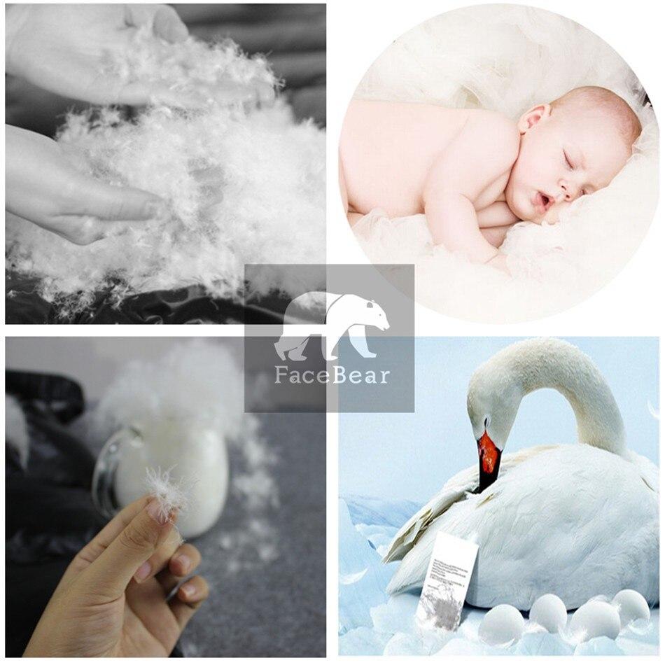 Hiver enfants 90% blanc canard vers le bas barboteuses garçons grande fourrure naturelle avec des vêtements à capuche filles épaissir combinaison 2-6y enfants combinaison de neige - 5