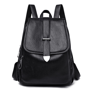 Image 2 - NEW Women Backpack high quality Leather  Fashion school Backpacks Female Feminine Casual Large Capacity Vintage Shoulder Bags