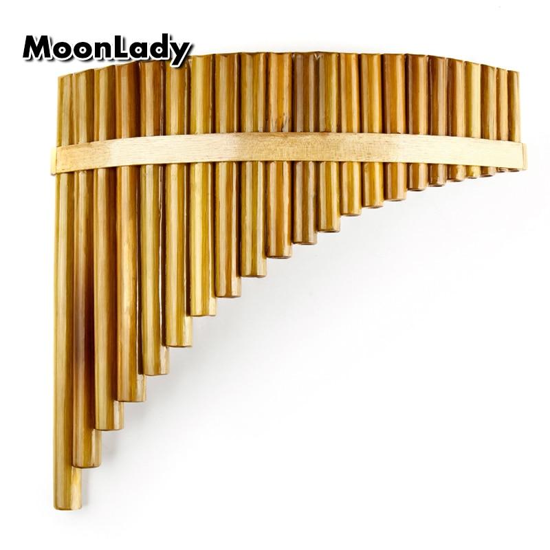 Nouvelle Arrivée C Clé Pan Flûte Droite 22 Tuyaux Musique Instruments Brun Couleur Chinois À La Main Instrument à vent Flûte de Pan