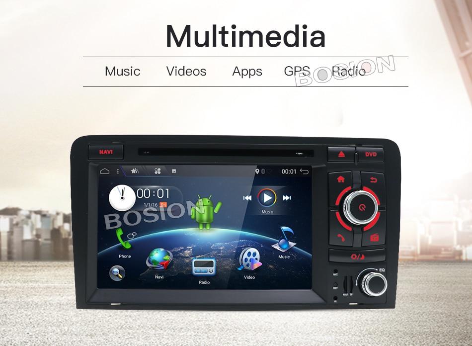 2 ГБ Оперативная память Android 7,1 dvd плеер автомобиля радио для Audi A3 2002 2011 автомобилей gps мультимедиа навигация с canbus Wi Fi 4 г навигации Карты
