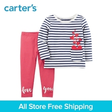 Carter's 2-Piece baby children kids clothing Girl French Terry Top & Polka Dot Legging Set 239G660