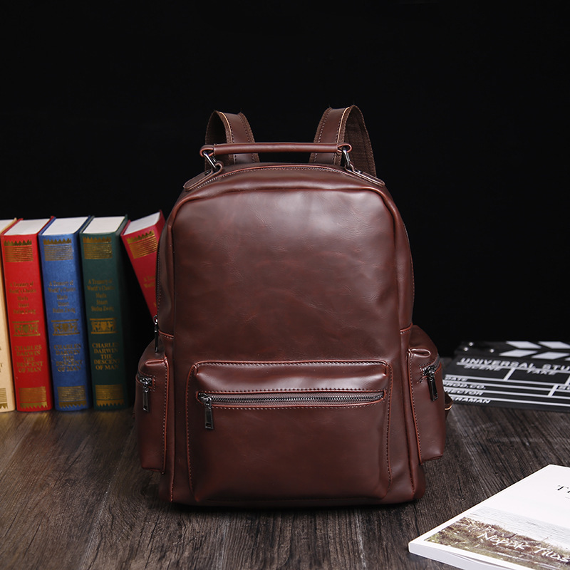 2018 New Vintage Women And Man Backpack for Teenage School Bags Large Drawstring Backpacks High Quality PU Leather Black Red Bag цена