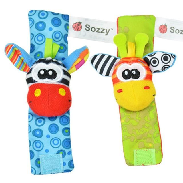 Baby Rattle Toys New Garden Bug Wrist Rattle Foot Socks Multicolor 2pcs Waist+2pcs Socks=4pcs/lot (YYT121-YYT123)