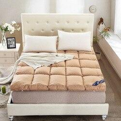 Folding thick velvet feather mattress stereo apply to hotel home tatami mat double soft mattress.jpg 250x250