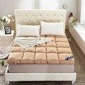 Plegable colchón de plumas de terciopelo grueso estéreo aplicar en el Hotel casa tatami colchón suave doble