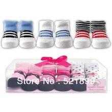 Модные новые активные Детские носки Meias Infantil 3 пар/лот маленьких обувь Детская одежда носки Подарочный набор, 0-9 m