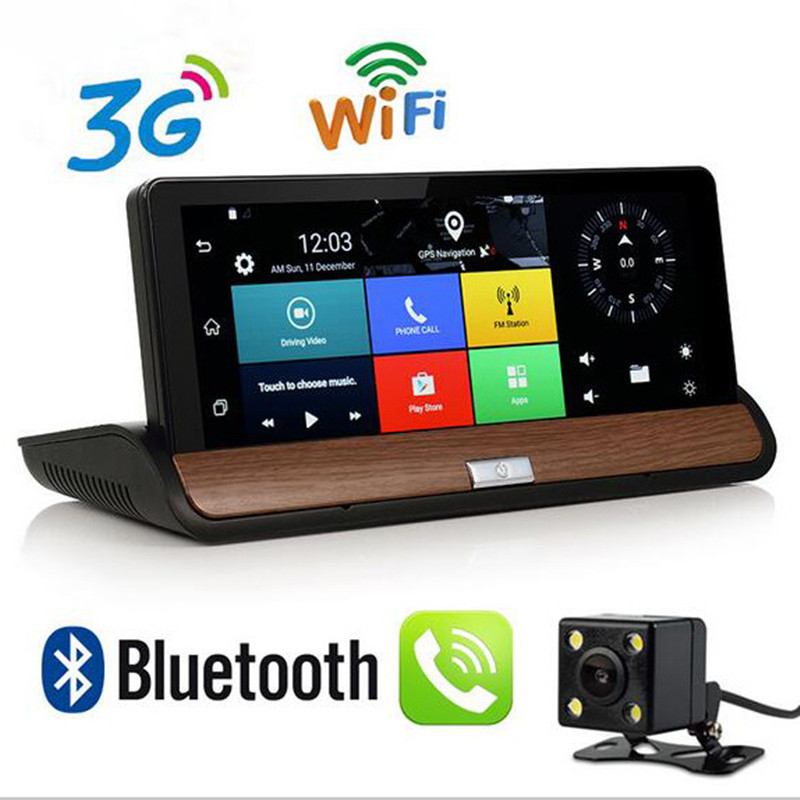 New 7 IPS Android 3G Car Camera GPS Navigation Bluetooth Wifi Car DVR Video Recorder Dual