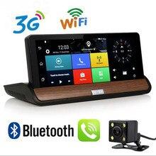 """Nuevo 7 """"IPS Android 3G de la Cámara Del Coche de Navegación GPS Bluetooth Wifi Coche Video Recorder DVR de Doble Lente Full HD 1080 P Dash Cam aparcamiento"""