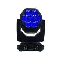 Новый большой пчелы глаз 7x15 Вт светодиодный перемещающаяся головка функция масштабирования DMX 512 мыть огни RGBW 4IN1 луч эффект свет вечерние/ба