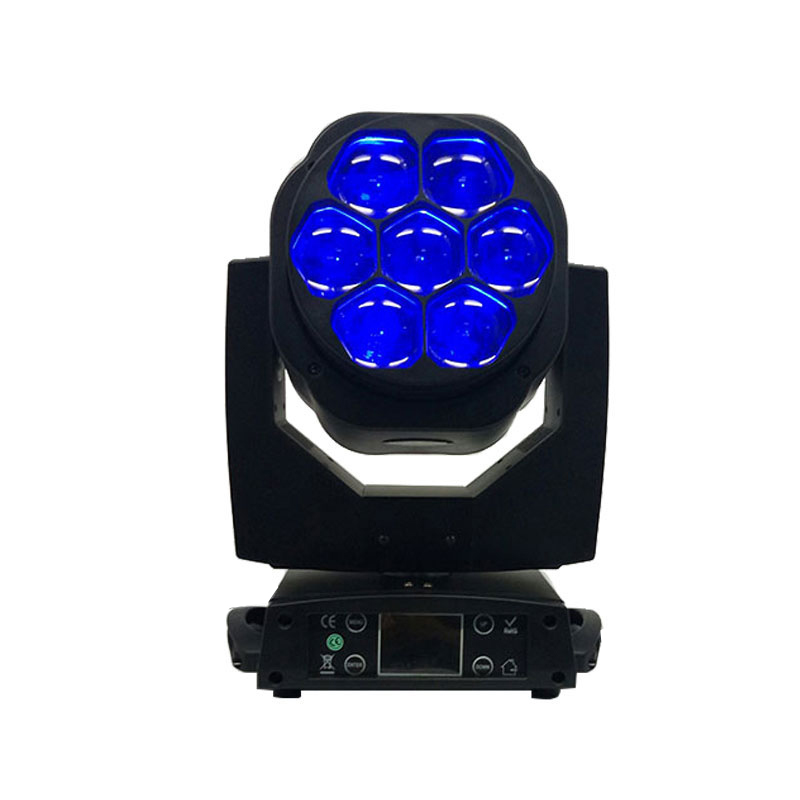 New Big Bee Eye 7x15W LED moving head zoom function DMX 512 Wash Lights RGBW 4IN1 Beam effect light party/bar/DJ/stage Lighting цена