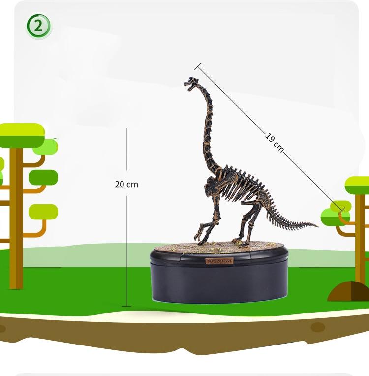 Dinosaur Fossil Tyrannosaurus Rex Velociraptor Triceratops Skull Model Diamond Building Block Assembly Toys Creator Series