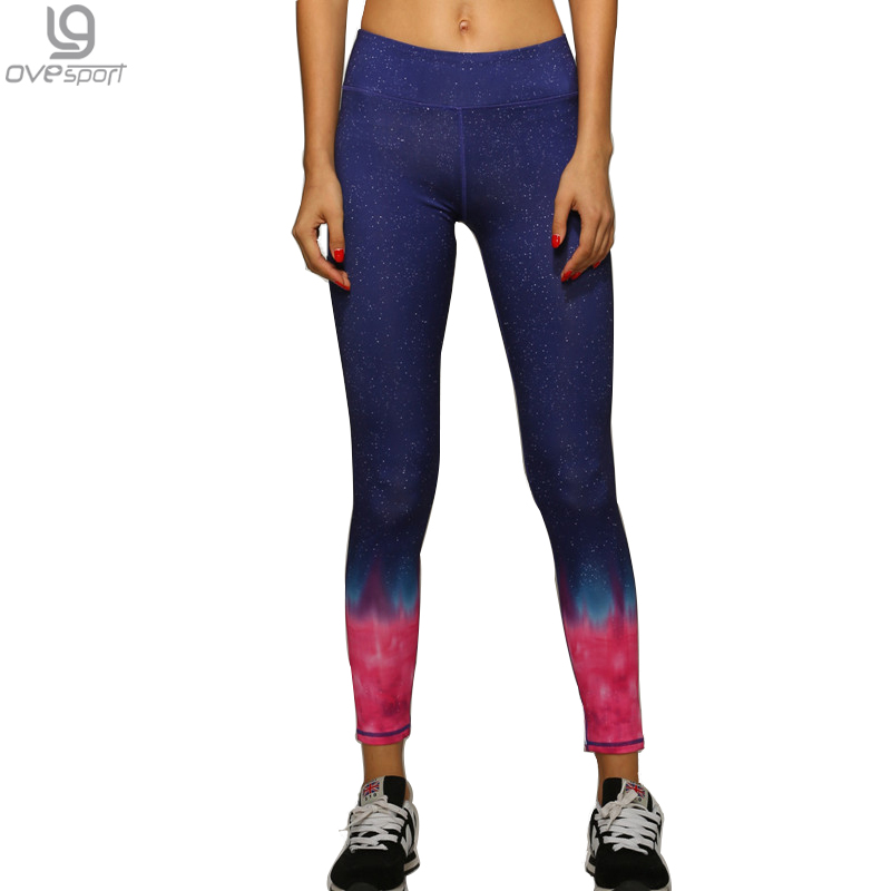 Sexy Women compression Pants Fitness Workout Breathable Leggings Star Flame Printed Trousers For Women Quick Dry Womens Leggings
