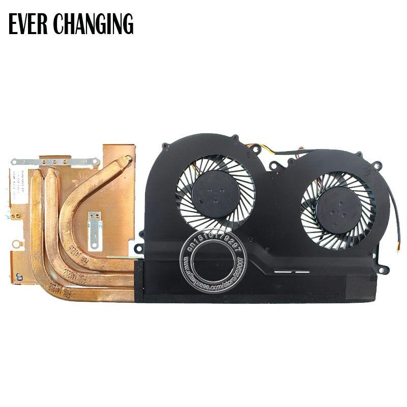 Nouveau et Original ventilateur GPU et dissipateur de chaleur pour HASEE Z7 6-31-P6502-G02 6-31-P6502-200 6-31-P6502-201 FCN FG80 FGFF