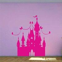 Princesa girls fairytale Castle wall decal dormitorio Pared de Vinilo Pegatinas DIY Bebé Nursery Room Wall Art Decoración
