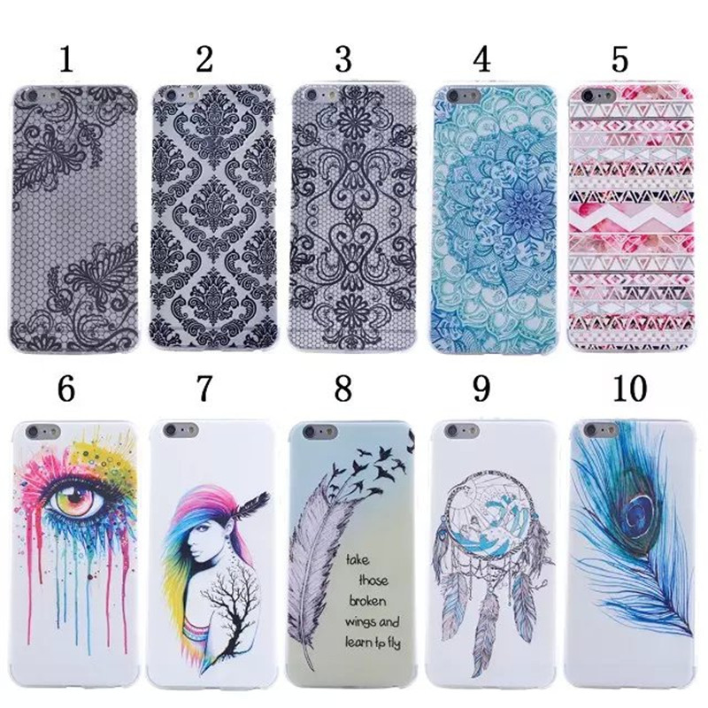 Fashion Ultra Thin Soft TPU Pattern Case For Apple iphone 6 Plus 5.5″ Silicone ShockProof Phone Back Cover,XX-P010