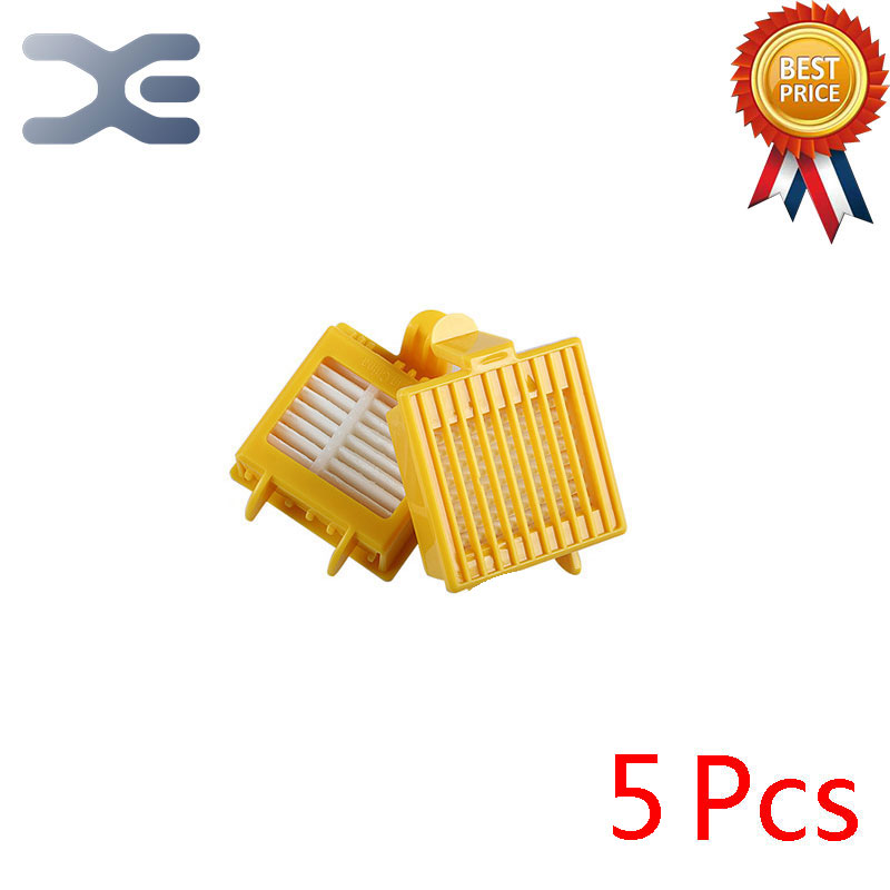 5Pcs For iRobot Roomba 700 Series Sweeping Robot Parts Filter Vacuum Cleaner Parts bristle brush flexible beater brush fit for irobot roomba 500 600 700 series 550 650 660 760 770 780 790 vacuum cleaner parts
