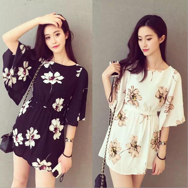 Корейский летний платье