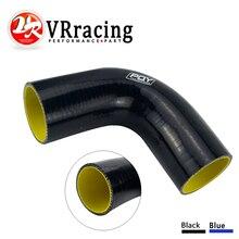 """VR RACING-2,"""" 51 мм 90 градусов Локоть силиконовый шланг турбо Впускной черный синий vr-SH9020-QY"""