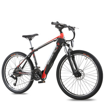 Bicicleta eléctrica de 26 pulgadas 48V10ah, batería de litio oculta en el marco, bicicleta de montaña eléctrica ligera, 25 km/h, 240 motor ebike
