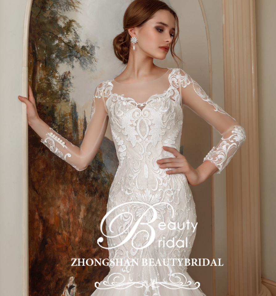 Us 455 99 20 Off Pictures New Arrival Mermaid Trumpet Wedding Dresses Vestido De Noiva Lace Court Train Plus Size Wedding Gowns Xf16102 In Wedding