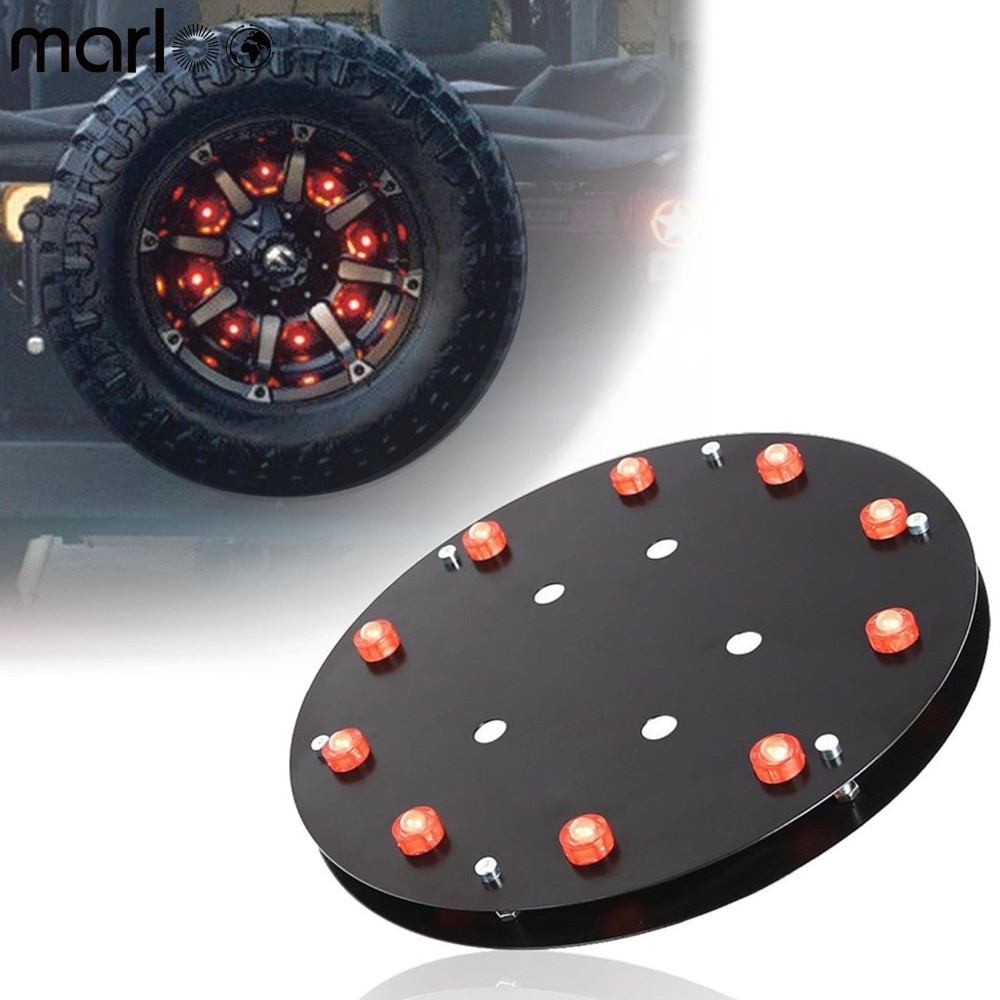Marloo Spare Tire Brake Lights 3rd Taillight LED for Jeep Wrangler JK JKU Unlimited Rubicon Sahara X Sport 2 Door 4 Door 2007 up lantsun j039 black grab bar front rear grab handle for jeep wrangler jk sahara sport rubicon x