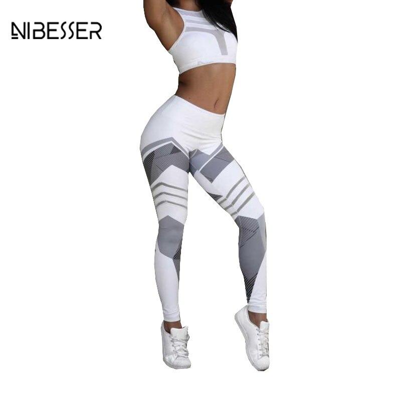 NIBESSER 2018 Fashion Work Out Elastic Leggings Women Printing Fitness Pencil Pants Female Casual Sweatwear Skinny Leggins