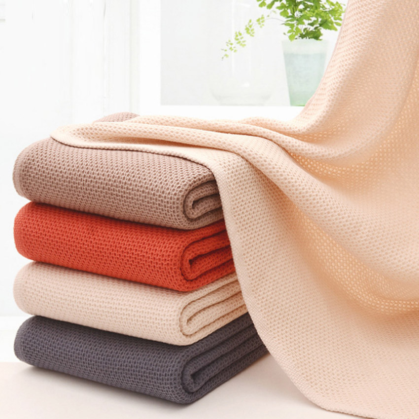 New Honeycomb Absorbent Bath Towels Cotton Thicken Jacquard Plain Bath Towel 70x140 High Quality Big Towel in Bath Towels from Home Garden