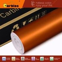 Orange Matte Chrome Ice Film Vinyl Wrap 1 52 20M Free Shipping