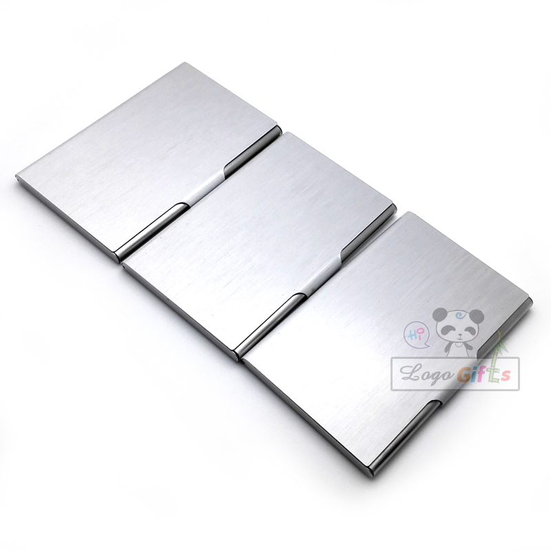 Free shipping!!Business fashion card case Stainless steel metal card ...