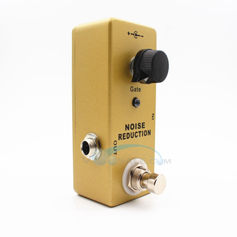 Mosky MM Overdrive Guitar Effect Pedal Mini Single Reduction Suppressor with True Bypass Gold Color Guitarra Effect Pedal aroma aos 3 octpus polyphonic octave electric guitar effect pedal mini single effect with true bypass