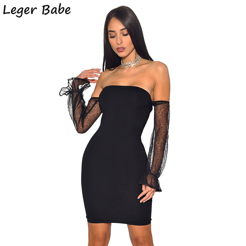 Detail Feedback Questions about Leger Newest Design Fashoin 2019 Cold  Shoulder Black Lace Mesh Long Sleeve Cocktail Mini Bodycon Sheath Party  Sexy Dress ... 6c95fecadb17