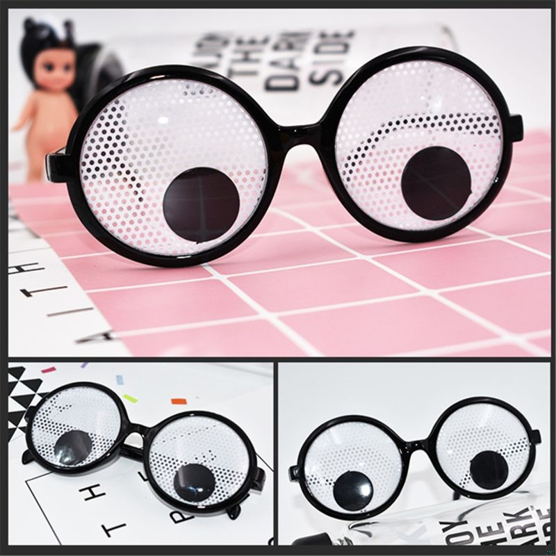 Googly Eyes Glasses Plastic Round Party Favors, Novelty Shades, Party Toys, Funny Costume Glasses Accessories For Kids & Adults