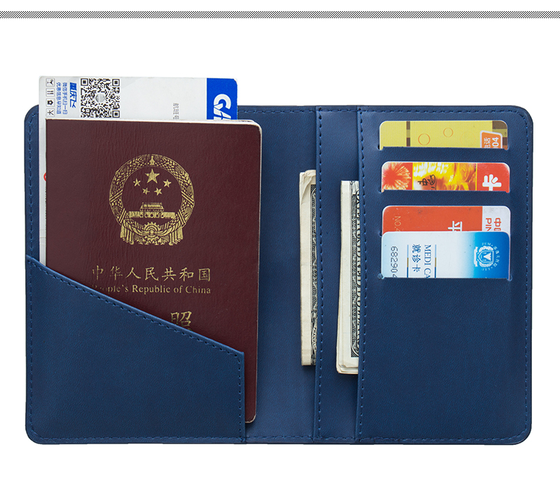 Coin Purses & Holders Back To Search Resultsluggage & Bags Russian Blue Pu Leather Double-headed Eagle Emblem Card Holder Bag Travel Built In Rfid Blocking Protect Personal Information