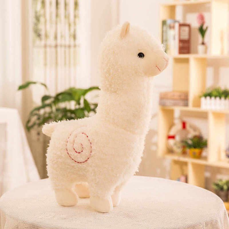 Мягкая плюшевая игрушка в виде животного Llama Yamma, подарок на день рождения для малышей, детей, прекрасный 28 см, мультяшная плюшевая кукла из альпаки, игрушка из овечьей ткани
