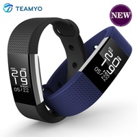 Teamyo F2 OLED Display 24 Type Vibrating Alarm Clock Call Message Reminders Smart Band Heart Rate