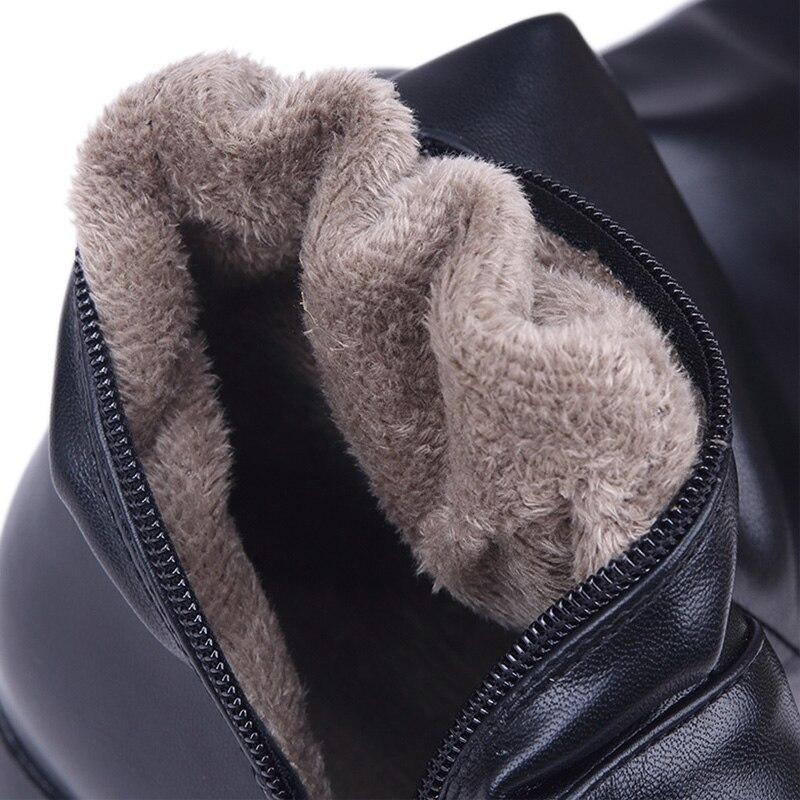 Winter Das Femme Frauen Echtem Stiefel Über Leder Mujer Schwarzes Oberschenkel Zapatos Chaussures Frau Aus Hohe Knie Botas Schuhe EwvSawq