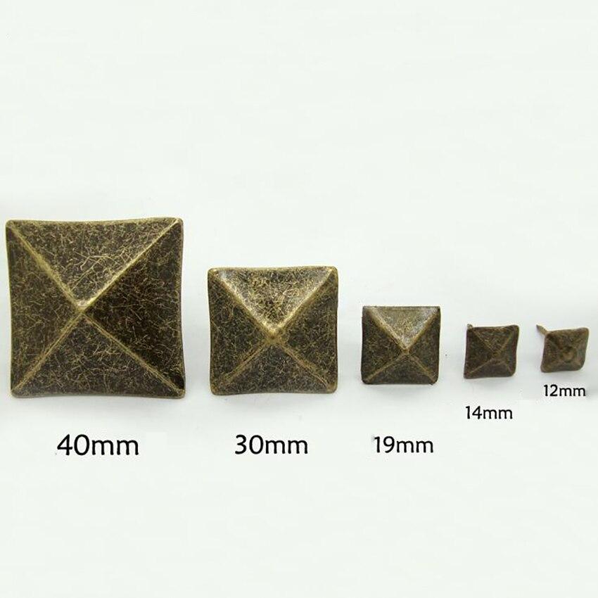 10PCS/LOT Antique Bronze Upholstery Nail Thumbtack Square Pushpin Doornail Hardware Jewelry Box Sofa Decorative Tacks Stud