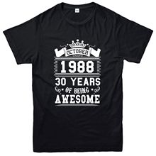 Fashion New Top Tees Tshirts Thirty Years Of Being Awesome T-shirt, October 1988 Inspired Tee Top Tee shirt Free shipping newest neil williamson elaine gallagher cameron johnston thirty years of rain