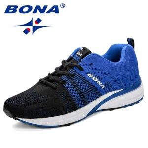 Image 3 - Bona novo tênis de corrida das mulheres tênis de corrida respirável malha rendas up treinamento ao ar livre sapatos de fitness esporte feminino