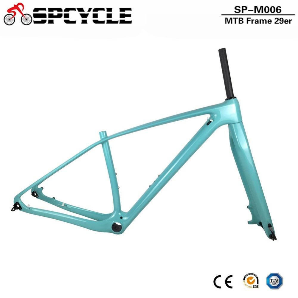 Spcycle T1000 Full Carbon VTT Cadre Et Fourche 27.5ER 29ER Vtt Cadres En Carbone Avec 15*100mm Thru essieu Fourches PF30 Casque