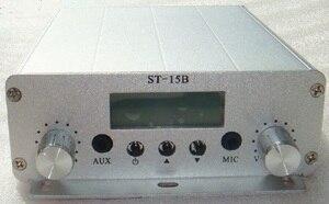 Image 3 - 1.5W/15w pll FM משדר FMU SER ST 15B עם franquency טווח 87MHz ~ 108MHz 5km ארוך טווח fm משדר