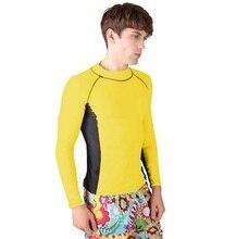 Men Water Sport Seaside Swim Short sleeve T-shirt Surf Clothing Beach Rashguard Fitness Short Sleeves Shirts Running Swimmwear